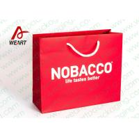 China Bright Red Color Personalised Paper Shopping Bags For Business Eco - Friendly on sale