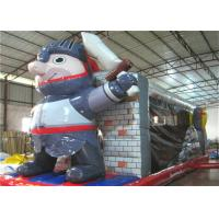 Quality Indoor Playground Inflatable Obstacle Courses Bounces Slide Guard Theme 8.5 X 2.8m for sale