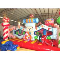 Quality Digital painting inflatable candy house fun city big inflatable Christmas candy themed amusement park for sale