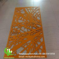 Quality Metal aluminum engraving screen panel laser cutting facade panel home decoration tree patterns for sale