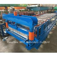 Quality Corrugated Roof Sheet Steel Making Roll Forming Machine Hydraulic Cutting for sale