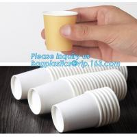 China Custom made take away biodegradable PLA coffee disposable paper cups,Fully stocked biodegradable ripple paper cup PACKAG on sale