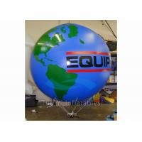 Quality Logo Printing Globe Round Earth Advertising Balloon , Inflatable World Globe for sale
