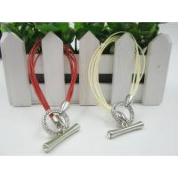 Buy cheap Customized Red Beige Wax Rope Buckle Bracelets Ladies Girl Women from wholesalers