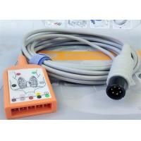 Quality 5 Lead Patient Monitor Ecg Accessories , Holter Ecg Cable Iec Standard for sale