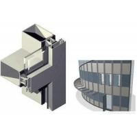 Quality Multi functional Curtain Wall Aluminum Window Profile For Decoration Rectangle Shape for sale