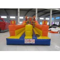 Quality Adult Inflatable Sports Games 2 Lane Bungee Run Inflatable Bungee Jump 10 X 3 X 3.5m for sale