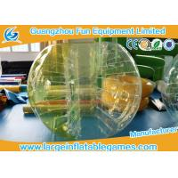 Quality Durable Inflatable Bumper Ball Half Color Human Sized Soccer Bubble 0.7-1.0mmTPU for sale