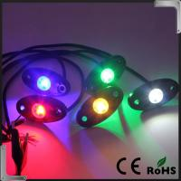 Quality RGB Bluetooth Control 9-32V DC Led Rock Light , IP68 Jeep Off Road Rock Lights for sale