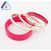 Buy cheap Rose Red Many Layers Candy Color Fashion Bangle Bracelet BSL559 from wholesalers