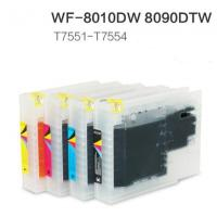T7551 T7552 T7553 T7554  T7541 T7542 T7543 T7544 ink cartridge for Epson WF-8590DWF Refill cartridge for sale