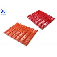 Quality Warehouse Synthetic Spanish Roof Tiles Acoustic Insulation Corrosion Resistance for sale