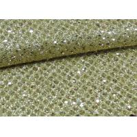 China Foil Plain Polyester Glitter Stretch Mesh Fabric For Making Shoes Bags Wall Paper on sale