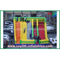 Buy cheap 9.5*7.5*6.5m colorful inflatable bouncer slide with climbing wall for amusement from wholesalers