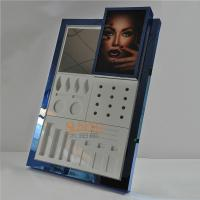 Buy Counter Portable Makeup Display Stand Blue Mirror Protection Treatment at wholesale prices