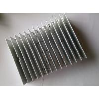 Quality Extruded Aluminum HeatSink Silver Anodizing CNC Machining Cool Fin Heat Sink CE GS For LED Lighting for sale