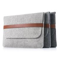 Quality Factory price mac book pro felt laptop briefcase bag. size is  a4. 3mm microfiber material for sale