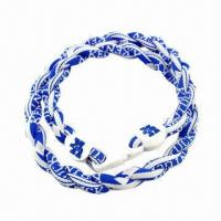 Quality Braided Necklace Made of Nylon by Handmade, Customized Design, Small Quantity and Mix Order Welcomed for sale
