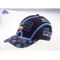 Quality Polyester Woven Fabric Racing Baseball Caps for sale