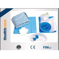 Quality Durable SMS Disposable Surgical Packs Sterile Cath Lab Kit In Blue Color for sale
