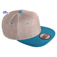 Quality Custom Two-Tone Wool Blend Snapback Snap Back Blank Hat Baseball Cap for sale