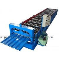 Quality PLC Steel Metal Roof Panel Roll Forming Machine , Roofing Sheet Roll Former 5 Ton for sale