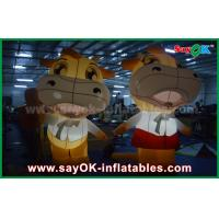 Quality Custom Animal Oxford Cloth Inflatable Cartoon Cattle Cow With LED Lighting for sale