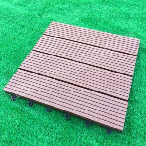 China Wood-Plastic Composite Flooring Technics and Engineered Flooring Type eco wpc deck tiles on sale