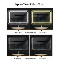 Buy Illuminated LED Bathroom Mirrors , Copper Free Mirror Customized Size at wholesale prices