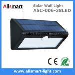 38LED 550 Lumens 7W Motion Sensor Solar Wall Light PIR Sensor Light Triangle