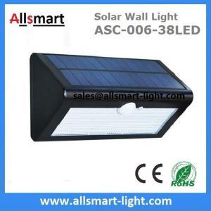 Quality 38LED 550 Lumens 7W Motion Sensor Solar Wall Light PIR Sensor Light Triangle Solar Lights Chinese Manufaturer Supplier for sale