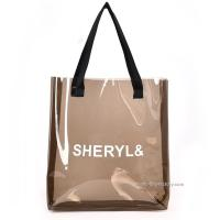 Quality Women's Clear Tote Shoulder Bag Transparent PVC Tote Handbag for Travel & Gym for sale