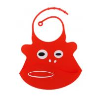 Quality 31.5cm X 21.5cm 100 % Silicone Baby Bibs BPA Free FDA / SGS Certificated for sale