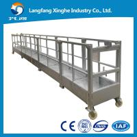Quality Hot galvanized steel temporary suspended platform ZLP800,2.0kw hoist motor for window cleaning for sale