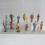 Quality 1:25 color figures,model figures,scale figure,painted figures,ABS figure,G gauge people,plastic mini  figures for sale