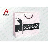 Pretty Custom Paper Shopping Bags With LOGO And Black PP Rope