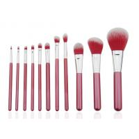 Smile Red Professional Makeup Brush Set Wood Handle PU Bag 136mm - 169mm