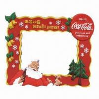 Quality Silicone/PVC Photo Frame for Christmas Gifts, Customized Designs, Sizes and Colors Accepted for sale