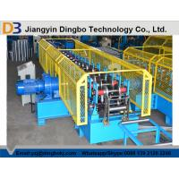 Quality Touch Screen PLC Control Cable Tray Roll Forming Machine With Servo Guiding Device for sale