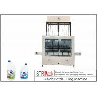 Quality 10 Heads Automatic Gravity Bottle Filling Machine For 1-5L Bleach Cleaner Corrosive Liquid  Cleaner for sale