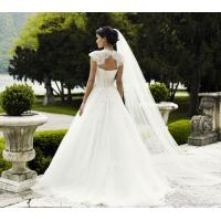 Quality NEW!!! Cape sleeves white Debutante A line skirt wedding dress Bridal gown #lilly_08 for sale