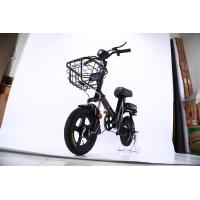 China OEM Portable Electric Bike , Black Small Folding Electric Bike 48V 10A Lithium Battery on sale