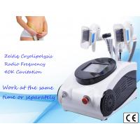 Buy cheap 4 Handles Cryolipolysis Machine Ultrasonic Cavitation rf Weight Loss Device from wholesalers