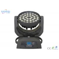 Quality LED 36pcs 18Watt Zoom Wash Beam Moving head / 4in1 RGBW / 5in1 / 6in1 optics for sale