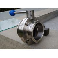 3A ASME BPE Sanitary Butterfly Ball Valve Simple And Compact Structure for sale