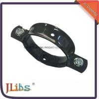China Aluminum Steel Pipe Fasteners To Wall , Pipe Wall Bracket Black Painting on sale