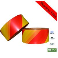 Quality Customized 500m Red and Orange PE Hazard Warning Tape for Crime Scene for sale