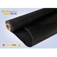 China Black Fire Retardant Blanket Glass Fiber Roll Compenstor Cloth 1.2mm Thermal Insulation Roll on sale
