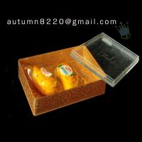 Quality BO (45) golden acrylic cosmetic case for sale
