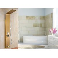 China Gold Painting ROVATE Thermostatic Shower Panel Brushed Surface Finishing on sale